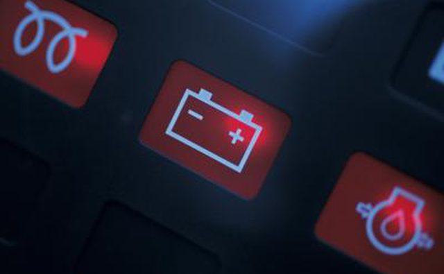Сигнальные огни автомобильного аккумулятора