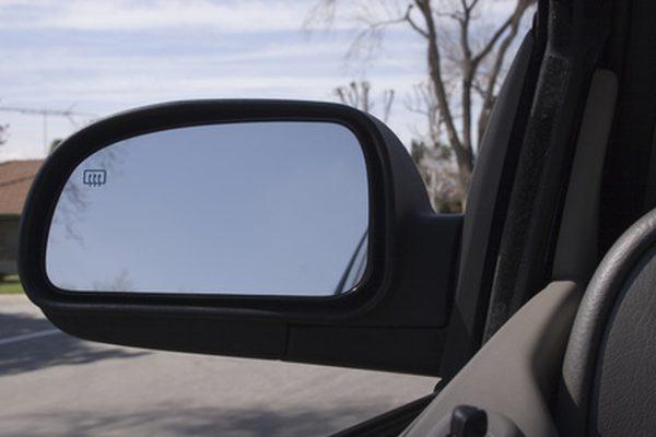 Как приклеить зеркало бокового вида
