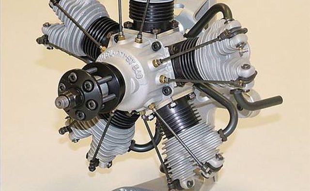 Радиальный авиационный двигатель с конструкцией HEMI.