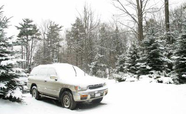 Следопыт в снегу