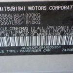 Mitsubishi VIN Decoder