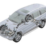 Остановить автомобиль Mercedes-Benz, переключиться на P, оставить работающий двигатель