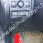 Расположение диагностического порта Subaru OBD2