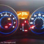 Сброс Acura Oil Life Сервисное напоминание