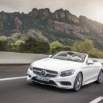 Как опустить складной верх на Mercedes