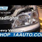 Как поменять фары на Chevrolet Venture