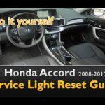 Как сбросить масляный свет на Honda Accord 2006 года
