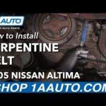 Как заменить 2003 Nissan Altima 2.5 серпантиновый ремень