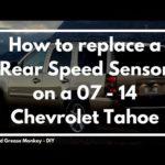 Как заменить датчик скорости в Chevy Tahoe 2004 года