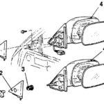 Как заменить электропривод зеркала в Mitsubishi Galant