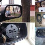Как заменить стекло в зеркале сбоку
