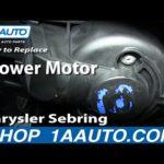 Как заменить вентилятор в Chrysler Sebring