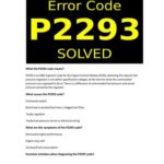 P2293 - Код ошибки OBD-II