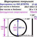 Как измерить размер обода шины