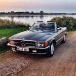 Как открыть капот Mercedes Benz 450SL