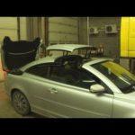 Как открыть складную крышу на Volvo C70