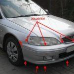 Как поменять фару на Honda Accord 2001 года