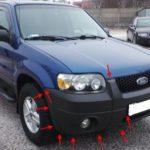 Как поменять фары в Ford Escape