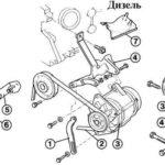 Как поменять генератор на форд эскорт