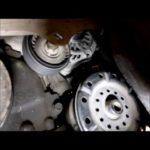 Как поменять натяжитель ремня на Dodge Caravan