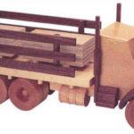 Как построить бортовой грузовик из дерева