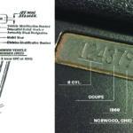Как расшифровать VIN номер Chevy Impala 1962 года