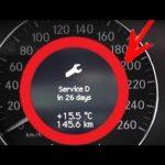 Как сбросить индикатор обслуживания на Mercedes E500