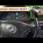 Как сбросить сервис B в Mercedes C230
