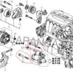 Как снять двигатель с Honda Accord