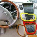 Как снять консоль в Lexus RX330