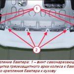Как снять крышку переднего бампера на автомобилях