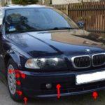 Как снять передний бампер на 325 BMW