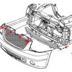 Как снять передний бампер на Chevrolet Avalanche