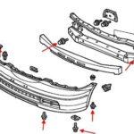 Как снять передний бампер на Honda Odyssey