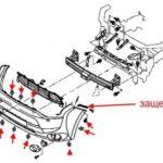 Как снять передний бампер с Mitsubishi Outlander