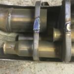 Как снять перегородки с выхлопа Harley