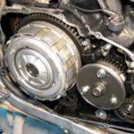 Как снять сцепление на Honda 750 Shadow