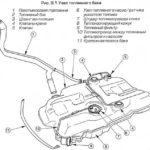 Как снять топливный насос в Ford Escort 1998 года