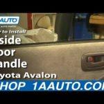 Как снять внутреннюю дверную панель на Toyota Avalon