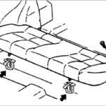 Как снять заднее сиденье Hyundai Elantra