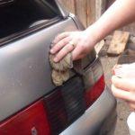 Как удалить клей наклейки на бампер