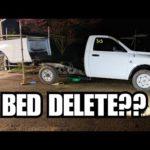 Как удалить кровать Dodge Truck