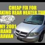 Как удалить сердечник нагревателя в Dodge Caravan 1997