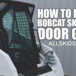 Как установить дверное стекло в Bobcat