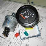 Как установить электрический манометр масла