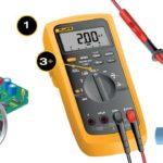 Как установить точки с помощью Fluke Meter