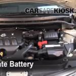Как заменить аккумулятор в Nissan Versa