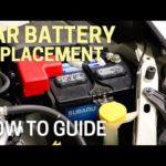 Как заменить автомобильный аккумулятор Subaru