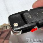 Как заменить батарею в ключе VW