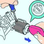 Как заменить цилиндр замка зажигания Toyota